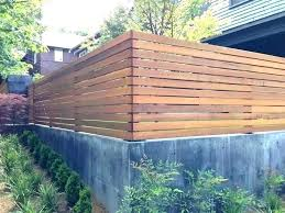 Concrete Half Wall Fencing 3 Feet High Google Search Wood Fence Design Modern Fence Design Backyard Fences