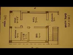 south face house plan map naksha