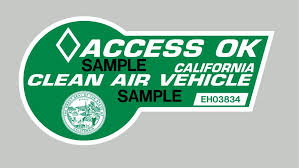 California S Green Hov Lane Stickers Available Again