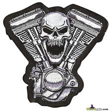 Skull V Twin Patch Wizard Patch