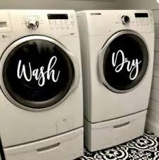 Wash Dry Washer Decal Dryer Decal Laundry Room Decals Vinyl Decals Sticker Ebay