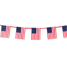 Miniature American Flag Garland