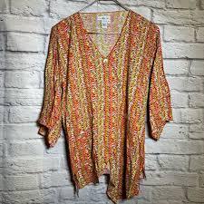 ivy reed Tops   Small Colorful Boho Rayon Shirt 3693   Poshmark