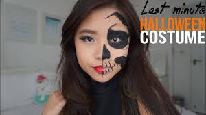 easy half face skull no face paint