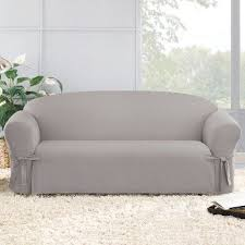 cotton duck sofa slipcover light gray