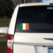 Irish Flag Car Decal Irish Car Decals Sticker Genius