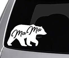 Amazon Com Seek Mama Bear Decal Car Truck Window Sticker Cool Cute Mothers Mom Life Stickers Automotive