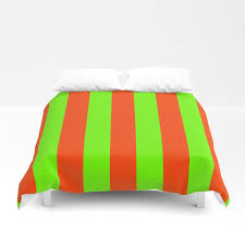 bright neon green and orange vertical