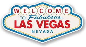 Amazon Com 2 X 15cm 150mm Las Vegas Sign Vinyl Sticker Decal Laptop Travel Luggage Car Ipad Sign Fun 4349 Arts Crafts Sewing