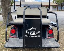 Golf Cart Decal Etsy