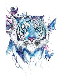 tiger erfly abziehtattoo