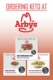 low carb at arby s keto options
