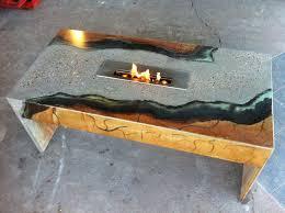 custom concrete coffee table with eco