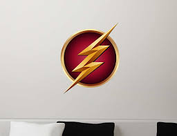 Amazon Com The Flash Symbol Logo Gift Repositionable Wall Graphic Decal Sticker Cw Tv Superhero Crime Fighter Kitchen Dining