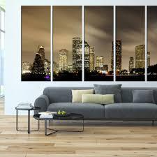 Houston Skyline Wall Art Canvas Print Large Wall Art Canvas 183 Walldecal76 On Artfire