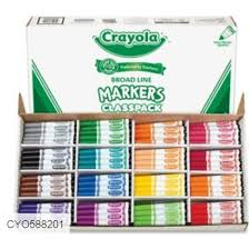 crayola fat marker classpack 256ct 588201