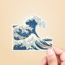 Great Wave Sticker Best Friend Gift Vsco Stickers Laptop Etsy