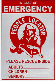 Amazon Com Emergency People Fire Rescue Decal 1 Pack Reflective Locator Alert Sticker Home Fire Safety For Kids Adults And Seniors Front Door Window Cling Save Our Family Inside