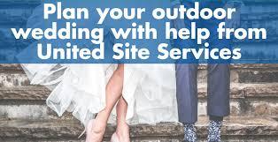 outdoor weddings plan a porta potty