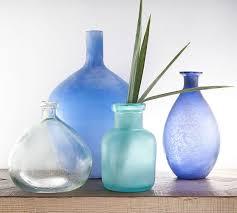 sea glass vases pottery barn