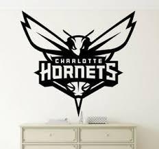 Charlotte Hornets Wall Decal Vinyl Sticker Nba Emblem Basketball Team Logo Art Ebay