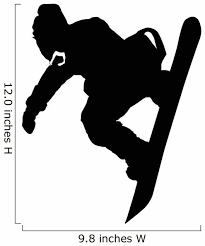 Hang Loose Snowboarder Silhouette Wall Decal Wallmonkeys Com