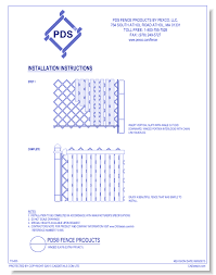 Winged Slat Fencing Pds Fence Products By Pexco Llc Caddetails