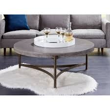 contemporary concrete coffee table