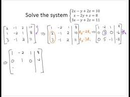 3x3 system with gaussian elimination