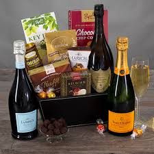 chagne truffles gift basket by