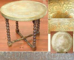 old brass coffee table tray indian