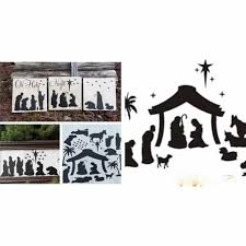 Diy Nativity Vinyl Decal Set Full Sheet Use On Candles Frames Tiles Etc Free Oh Holy Night With Each Purchase Jane