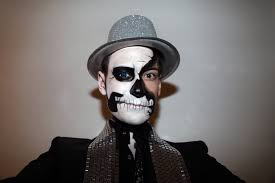 day of the dead mens makeup makeup