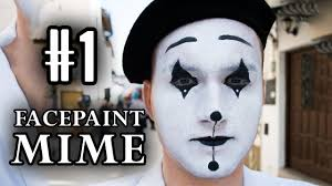 draw a french mime face facepaint