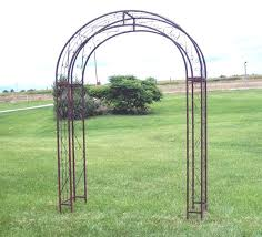 wrought iron xl round top arbor