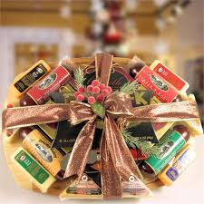 deluxe meat cheese gift basket gift