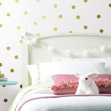 Gold Foil Confetti Dots Peel And Stick Wall Decals Roommates Decor