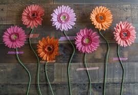 make your own paper gerbera daisies