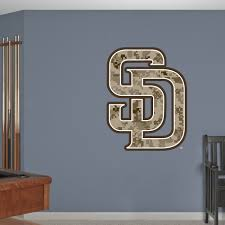 San Diego Padres Camouflage Logo San Diego Padres Mlb Sports Wall Decals Wall Decals San Diego Padres