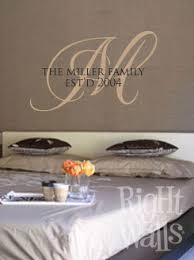 Family Monogram Wall Decal Family Vinyl Wall Art Family Name Wall Decals
