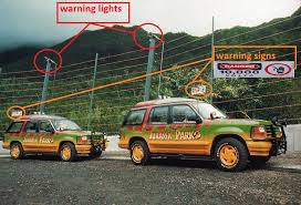 Buildings Attractions Add Warning Lights And Warning Signs To Electric Fences Like Jurassic Park 1 Film It Can Be Two Way Warning Lights Frontier Forums