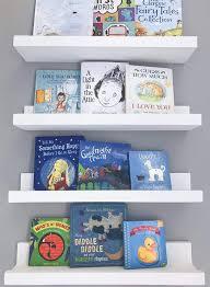Amazon Com Floating Shelves For Nursery Decor Kid S Room Bookshelf Display Picture Ledge 32 Inch White Handmade