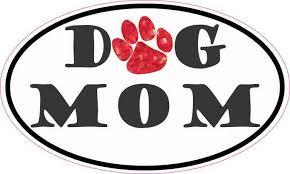 5inx3in Oval Paw Print Dog Mom Sticker Animal Car Bumper Window Cup Decal Stickertalk