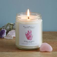 healing crystals scented candles
