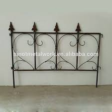Cheap Wrought Iron Lawn And Flower Edging Fencing Custom Metal Garden Border Small Fence Panels Buy Cheap Wrought Iron Fence Panels For Sale Folding Garden Fence Panel Decorative Garden Fence Panels Product On