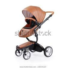 stroller isolated on white background
