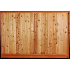 Aim Cedar Works 5x8 Premium Cedar Solid Fence Panel The Home Depot Canada