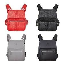 tactical chest pouch leather bag