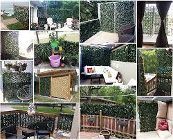 Amazon Com Expandable Fence Privacy Screen For Balcony Patio Outdoor Decorative Faux Ivy Fencing Panel Artificial Hedges Single Sided Leaves Garden Outdoor