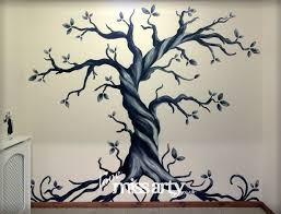 Gothic Tree Wall Mural Designed And Painted Family Tree Wall Painting Tree Wall Murals Tree Wall Painting